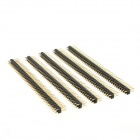 DIY CWZE SP01 2 x 40-Pin 2.5mm Pitch Straight Pin Header - Golden + Black (5 PCS)