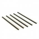 DIY CWZE SP01 1 x 40-Pin 2.5mm Pitch Straight Pin Header - Golden + Black (5 PCS)