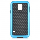 Stylish Protective TPU + PC Back Case for Samsung Galaxy S5 - Blue + Black