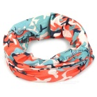 Outdoor Multi-Functional Seamless Quick Drying Head Scarf - Orange + Green