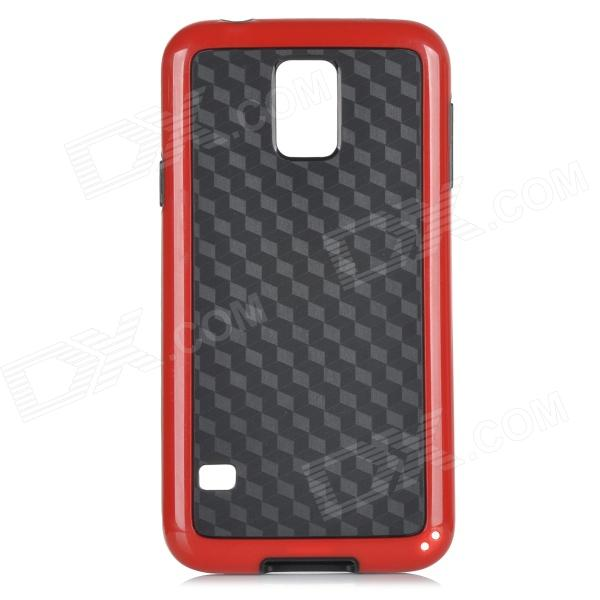 Stylish Protective TPU + PC Back Case for Samsung Galaxy S5 - Red + Black nillkin protective pc tpu back case for samsung galaxy s5 g900 red