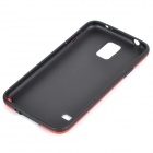 Stylish Protective TPU + PC Back Case for Samsung Galaxy S5 - Red + Black
