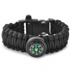 UItrafire Outdoor Survival Bracelet w/ Compass - Black