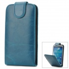 Stylish Flip-open PU Leather + Plastic Case for Samsung i9300 - Blue + Black