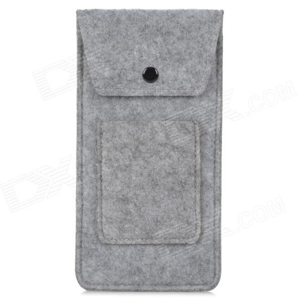 BL-407 Stylish Portable Protective Lint Pouch for Cellphone / Power Bank - Grey
