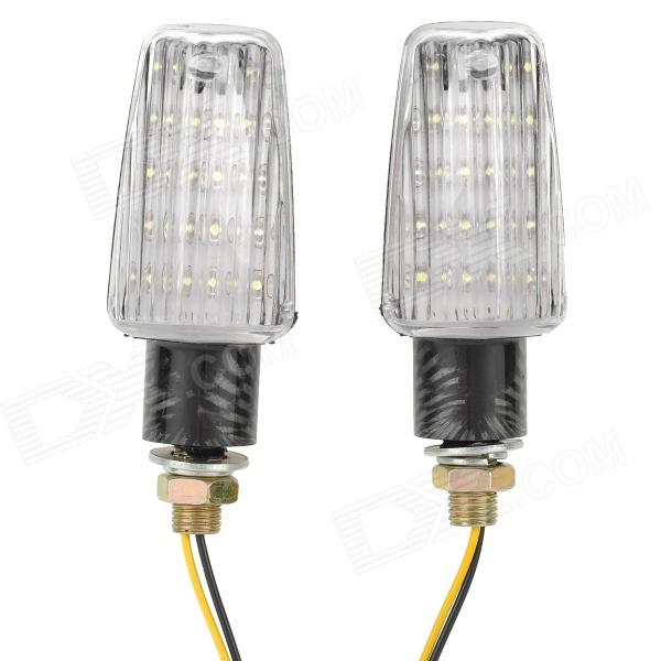 1W 110lm 15-LED White Light Waterproof Motorcycle Turn / Steering / Signal Light (2 PCS)