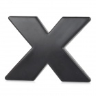 "DIY Cool ""X"" Style Chrome Plated Car Sticker - Black"