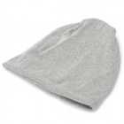Casual Cotton Polyester blandet Turban Cap - lysegrå