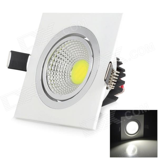 LSON Mini 5W 400LM 6000K White Light COB Ceiling Lamp - White + Black (AC 85~265V)