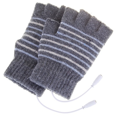 USB Heated Warm Gloves for Men - Color Assorted (Pair)