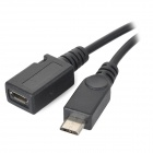 USB Female to Micro USB Male OTG Cable for Cellphones / Tablets -Black