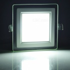LSON Double -Layer Glass Mirror 6W 500lm 6000K 12- SMD 5730 LED Hvit taklampe ( 85 ~ 265V )