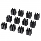 U-43 Aluminum Alloy Heatsinks for Computer Mainboard / GPU - Black (12 PCS)