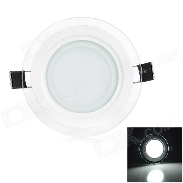 LSON 6W 500LM blanco de 6000 K luz 12-5730 SMD LED doble lente Panel lámpara - blanco (AC 85 ~ 265V)
