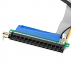 PCI-E 1X to 16X External Graphics Extension Ribbon Cable - Black + Grey + Multicolored (30cm)