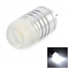 G4 1.5W 60LM 6000K 12mm White COB Lamp - Silver + Yellow (DC 12V)