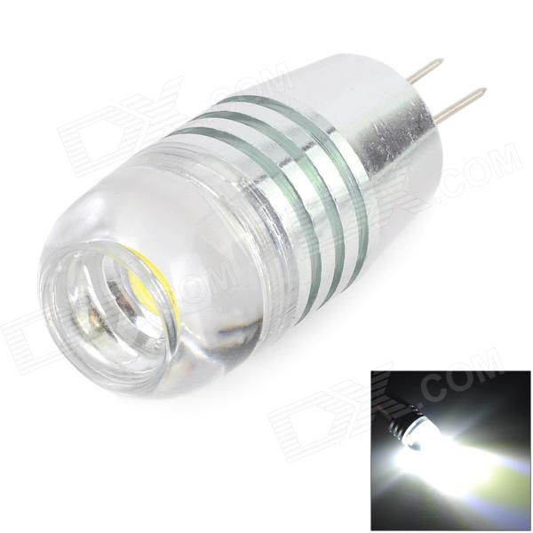 G4 3W 150LM 6000K 18mm White COB Lamp - Silver + Yellow (AC/DC 12V)