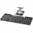 Convenient 69-key Wireless Bluetooth Folding Keyboard for Tablet PC / Smartphone - Black