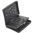 Convenient 69-key Wireless Bluetooth V3.0 Folding Keyboard for Tablet PC / Smartphone - Black