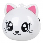 RX-Q1 Cat Style Portable Speaker w/ TF Slot / FM Radio - White + Pink