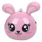 RX-Q1 Good Rabbit Style Multimedia Portable Speaker w/ TF Slot / FM Radio - Pink + Black
