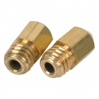 0.2mm Brass Nozzle Head for 3D Printer Makerbot MK8 - Brass (2 PCS)