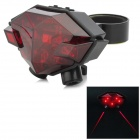 Induction intelligente 20mW 625nm 6-LED rouge laser 4-Mode feu de signalisation de la queue - noir + rouge (2 x aaa)