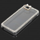 Stylish Rhinestone + Plastic Protective Back Case for IPHONE 5 / 5S - Transparent + Silver