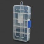 YOUFU 12218  Mini  PP 10-Lattice SMD SMT Electronic Moveable Components Storage Box - White + Blue