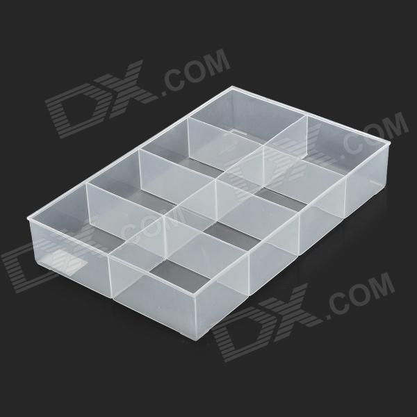 UFTOOLS No.1102 8-cube PP Electronic Component Storage Box - White