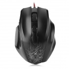 Motospeed F400 USB 2.0 Wired 800 / 1200 / 2000dpi LED Game Mouse - Black