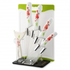 "Bestlead Zirconia Ceramic 3"" + 5"" + 6"" Kitchen Knives Kit w/ Stand / Peeler / Chopping Board"