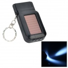 UltraFire LZZ-01 Solar Powered 3-LED White Light w/ Whistle / Keyring - Black