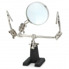 UFTOOLS 1062 Folding Desktop Flexible Magnifier w/ 2-Clip for Soldering - Black + Silver