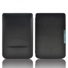 Protective PU Leather Flip Case Cover for Pocketbook Touch 624 - Black
