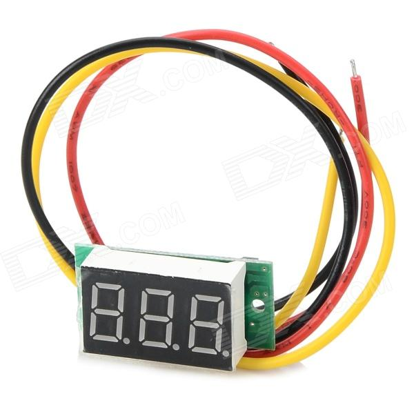 Jiahui DIY 0.36 3-Digit LED Digital Voltmeter Module - Black + Green + White (4~30V) 0 36 3 digit blue light 7 segment voltmeter module black green 3 2 30v