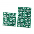 Hongyang M-010 PCB SMD Adapting Boards - Green + Golden + White (10 PCS)