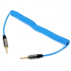 3.5mm Male to Male Spring Audio Cable - Blue