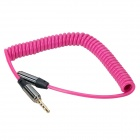 3.5mm Male to Female Spring Extension Audio Cable - Deep Pink