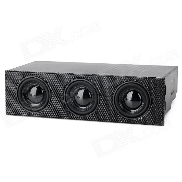 "STW STW-9005 5.25"" Drive Bay Desktop Computer Audio Stereo Speaker"