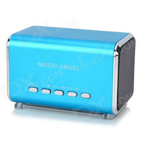 Portable Mini 3W USB 2.0 Speaker w/ MicroSD (TF) - Blue (Cable-50cm)