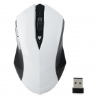 6515Q USB 2.0 2.4GHz Wireless Mouse - White + Black