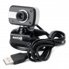 S-ce que filaire USB 2.0 HD 8.0mp caméra PC w / Microphone - Black + Silver