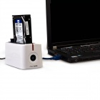 "ACASIS USB 3.0 Mobile Hard Disk Drive Docking Station for 2.5"" / 3.5'' SATA HDD - White (Max. 4TB)"