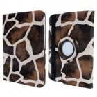 Lichee Pattern 360 Degree Rotation PU Leather Case Cover Stand for Samsung Galaxy Tab 3 10.1 P5200