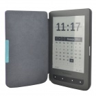 Protective PU Leather Flip Case Cover for Pocketbook Touch 624 - Purple