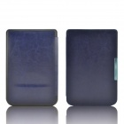 Protective PU Leather Flip Case Cover for Pocketbook Touch 624 - Deep Blue