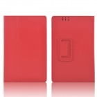 Hand Support Protective PU Leather Case w/ Auto Sleep Cover for Kobo Arc 7 HD - Red