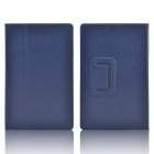 Hand Support Protective PU Leather Case w/ Auto Sleep Cover for Kobo Arc 7 HD - Deep Blue