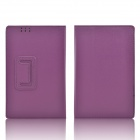 Hand Support Protective PU Leather Case w/ Auto Sleep Cover for Kobo Arc 7 HD - Purple